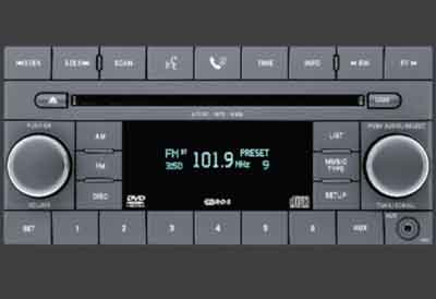 2010 Jeep Compass AM/FM 6-Disc CD/DVD Player (REQ)