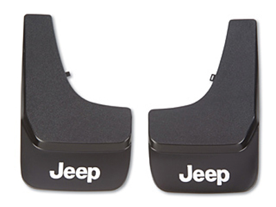 2011 Jeep Compass Black Flat Molded Splash Guards with Logo 82203703AB